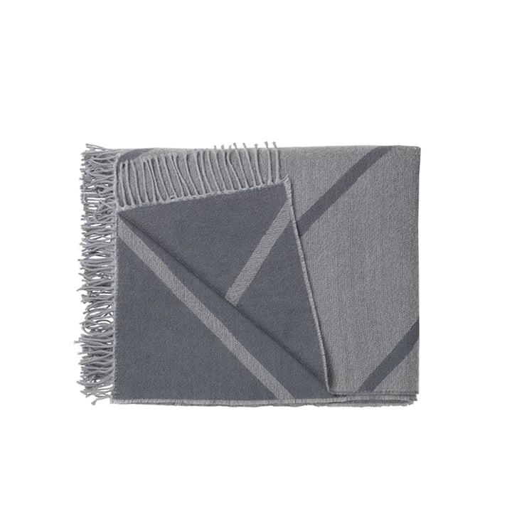 Mesch Wolldecke von by Lassen in Grau