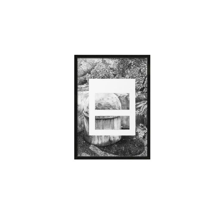 Silhouette Poster A5 21.5 x 14.8 cm von by Lassen in Grau