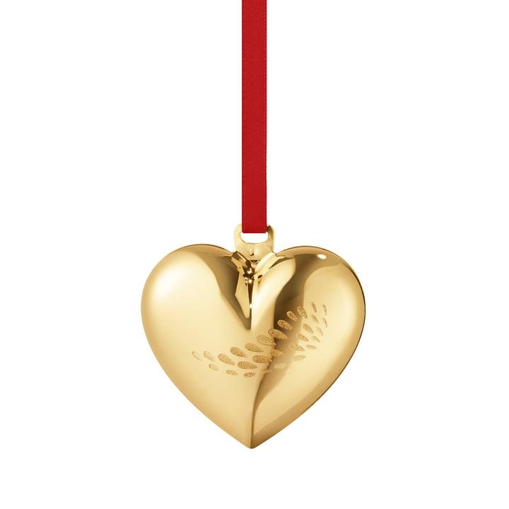 Das Georg Jensen - Weihnachtsherz 2018 in gold
