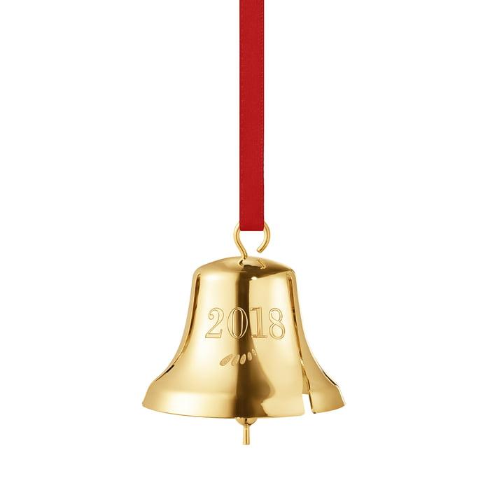 Die Georg Jensen - Weihnachtsglocke 2018 in gold