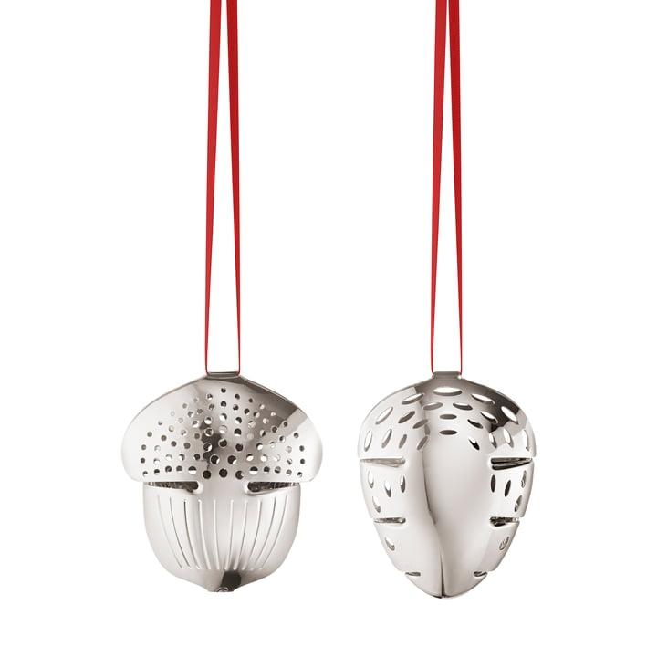 Holiday Ornament 2018 Eichel & Tannenzapfen von Georg Jensen in palladium