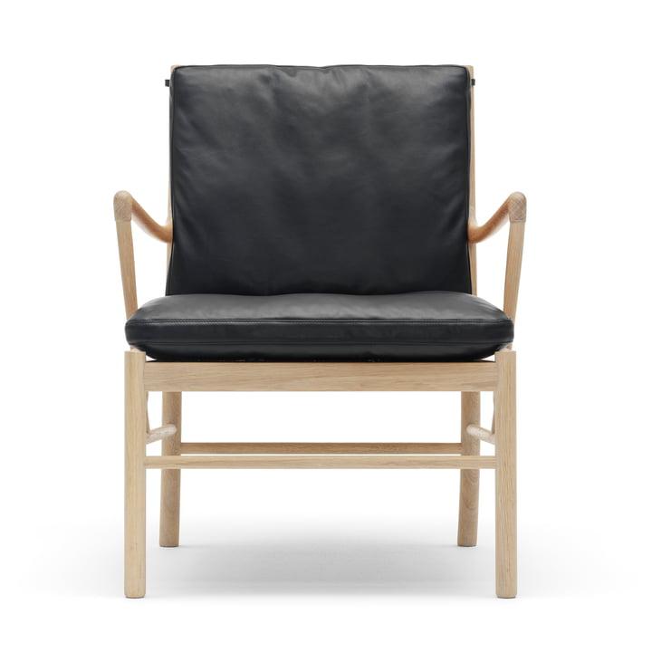 Der Carl Hansen - OW149 Colonial Chair, Eiche geseift / Leder Schwarz