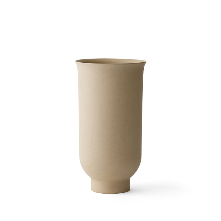 Cyclades Vase H 20 cm von Menu in Sand