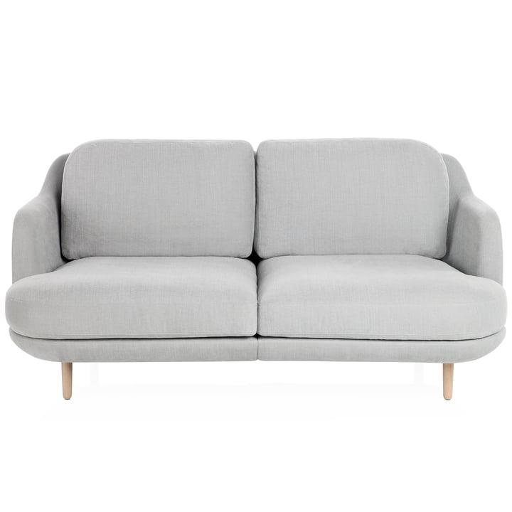 Lune Sofa mit Holzbeinen von Fritz Hansen in Grau