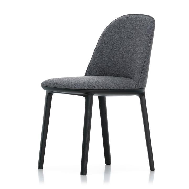 Softshell Side Chair von Vitra in basic dark / Plano (sierragrau / nero)