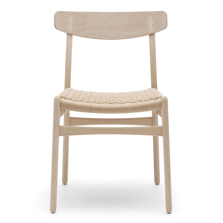 Der Carl Hansen - CH23 Chair, Eiche geseift / Naturgeflecht