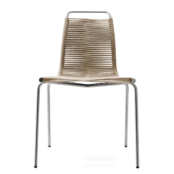 PK1 Outdoor-Stuhl von Carl Hansen in Stahl / Flaggleine