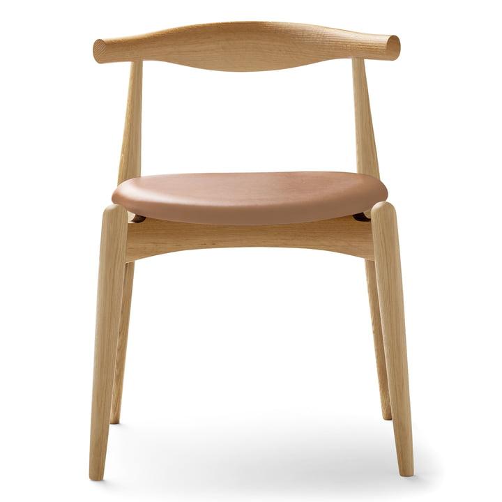 Carl Hansen - CH20 Elbow Chair, Eiche geseift / Leder Thor 325