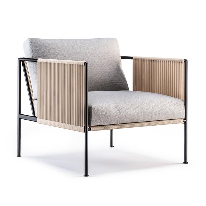 The Garden Antibes Chair von Röshults in anthrazit / naturgrau