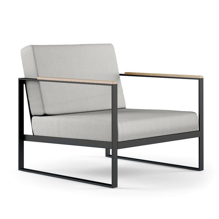 Der Röshults - Garden Easy Chair, anthrazit / nature grey