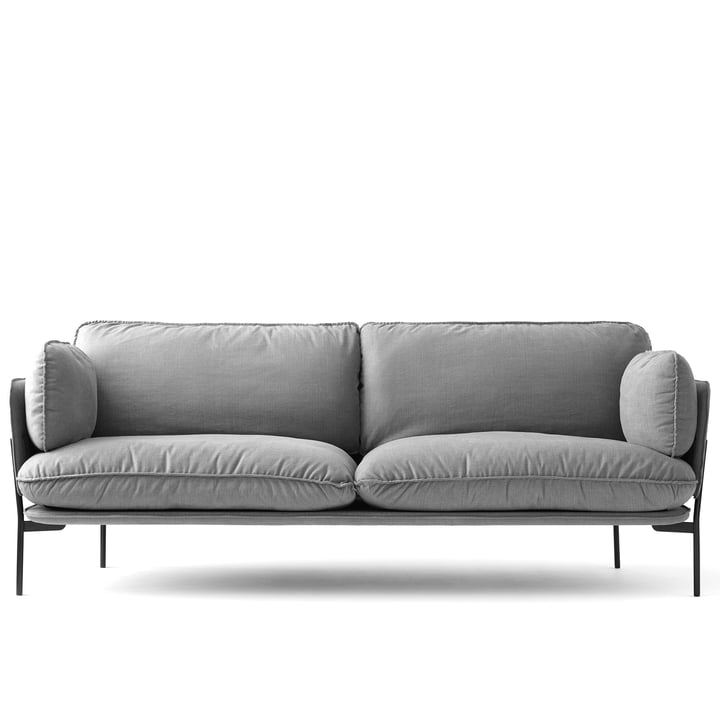 Cloud Sofa LN 3.2 von &Tradition mit Untergestell in Warm Black / Hot Madison 724