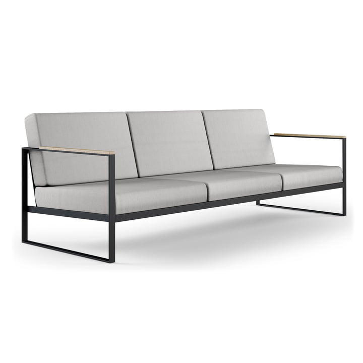 Das Röshults - Garden Easy 3-Sitzer Sofa, anthrazit / nature grey