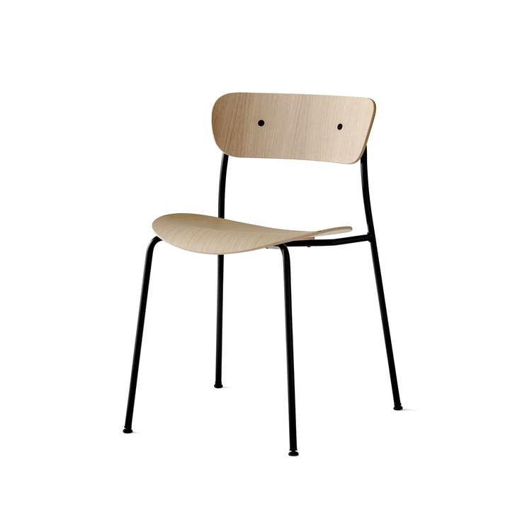 Pavilion Stuhl von &Tradition mit Rahmen Schwarz / Eiche lackiert