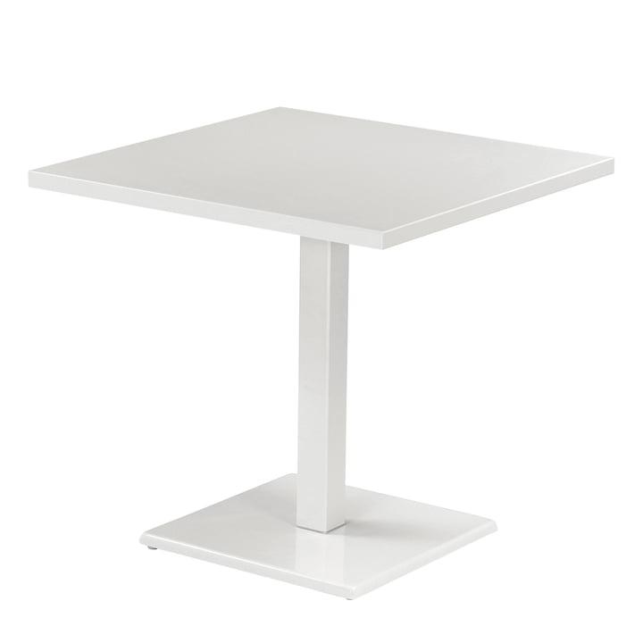 Der Emu - Round Tisch H 75 cm, 80 x 80 cm, weiß
