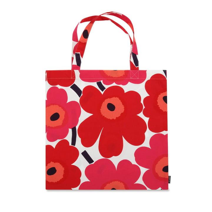 Die Marimekko - Pieni Unikko Einkaufstasche, rot / weiß