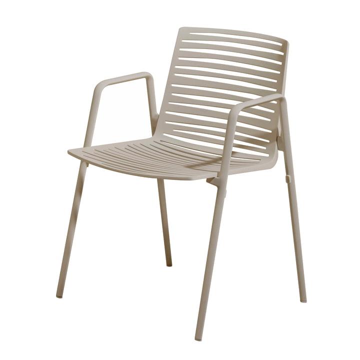 Zebra Armlehnstuhl von Fast in Cremeweiß