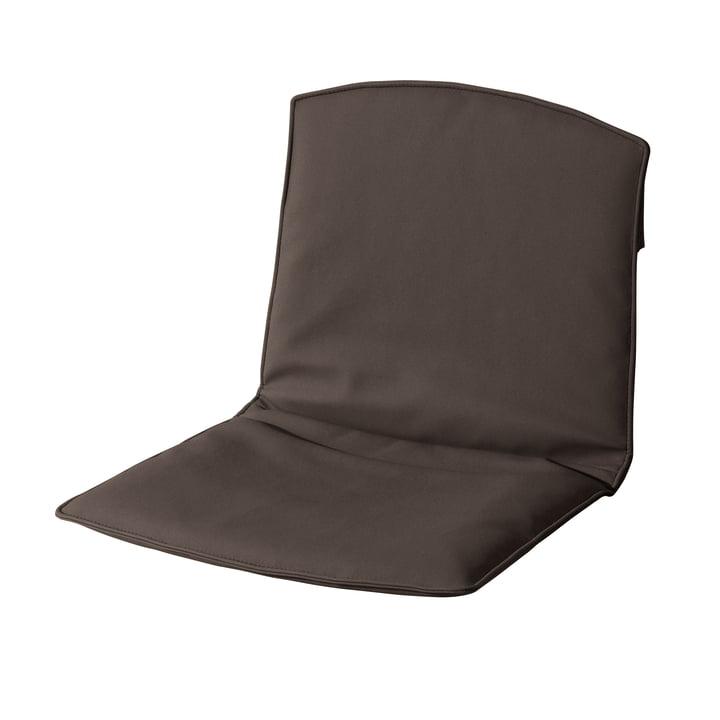 Sitz- und Rückenkissen für Zebra Stuhl von Fast in Erdbraun