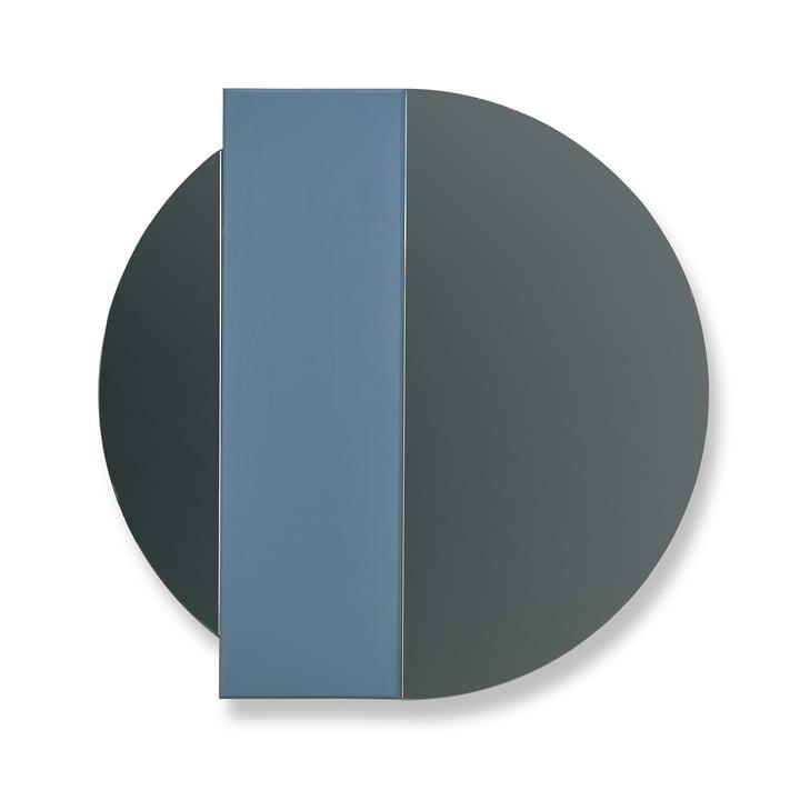 Charlotte Wandspiegel von Hartô in Blau / Spiegelglas Grau
