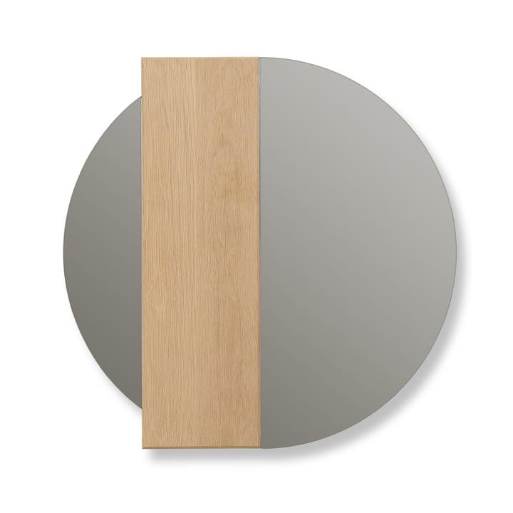 Charlotte Wandspiegel von Hartô Streifen Eiche / Spiegelglas