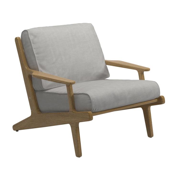 Gloster - Bay Lounge Chair, Gestell Teak / Bezug Sunbrella seagull