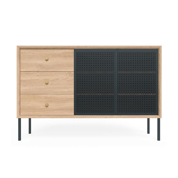 Gabin Sideboard hoch mit Schubladen von Hartô in Eiche / Anthrazitgrau (RAL 7016)