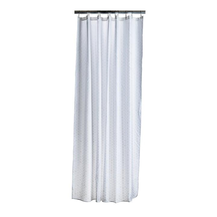 Der Zone Denmark - Drops Duschvorhang, cream / weiß