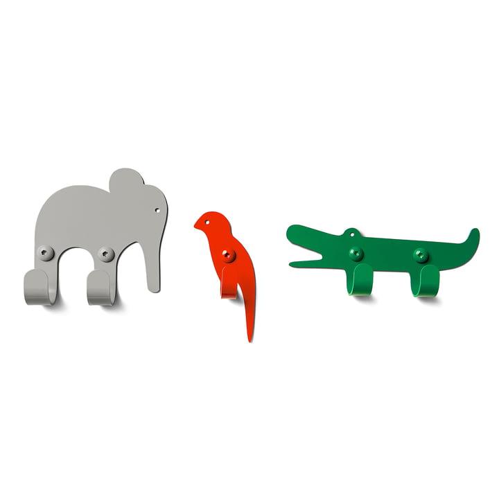Die vonbox - Wandhaken Zoo, Jungle (3er-Set)
