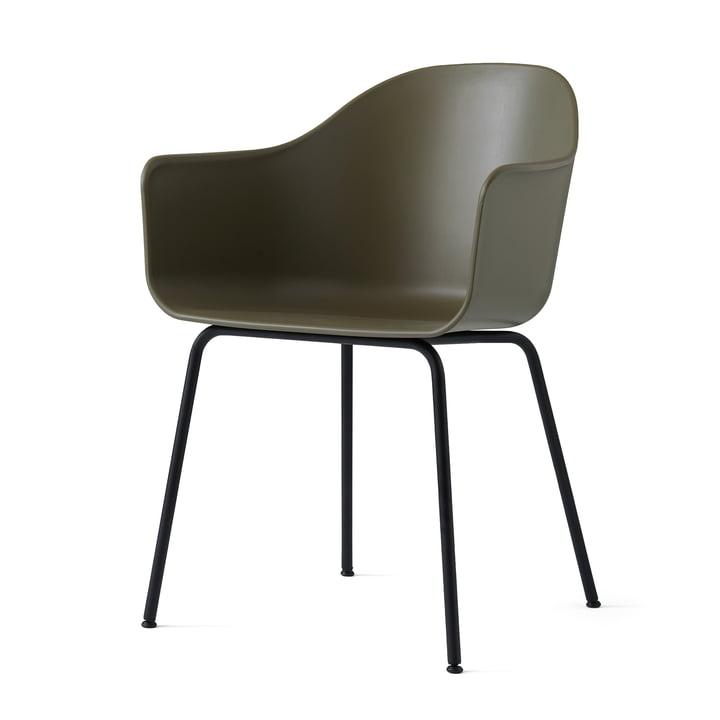 Menu - Harbour Chair (Stahl), schwarz / oliv