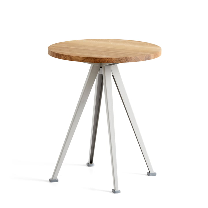 Der Hay - Pyramid Coffee Table 51, Ø 45,5 cm, Eiche matt lackiert / beige