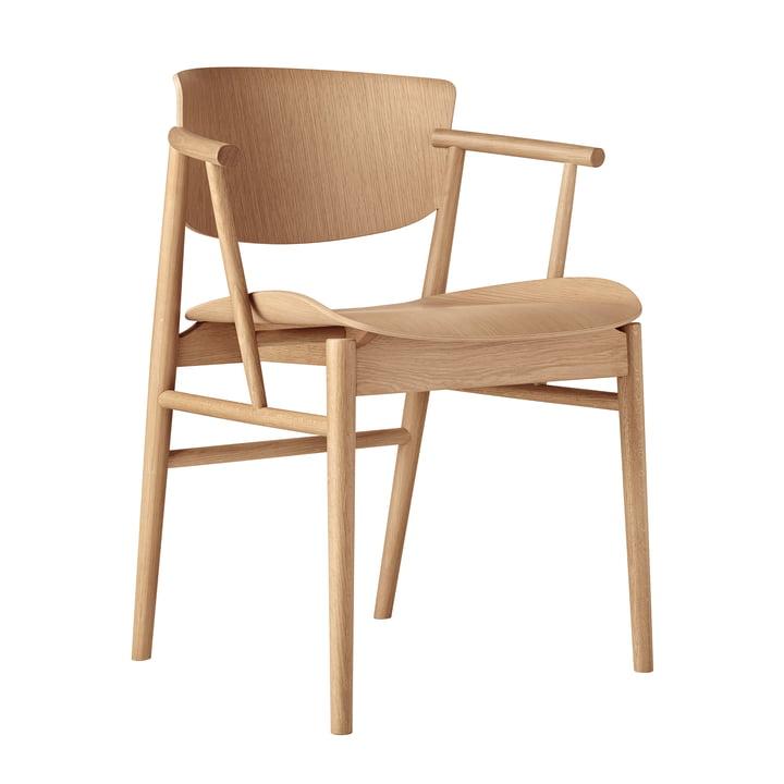 Der Fritz Hansen - N01 Armlehnstuhl in Eiche