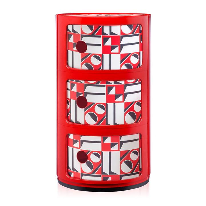 Componibili 4987 von Kartell in Rot / geometrico rosso