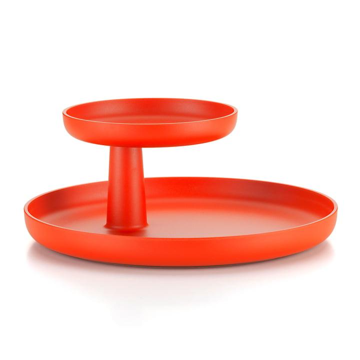 Das Vitra - Rotary Tray in poppy red