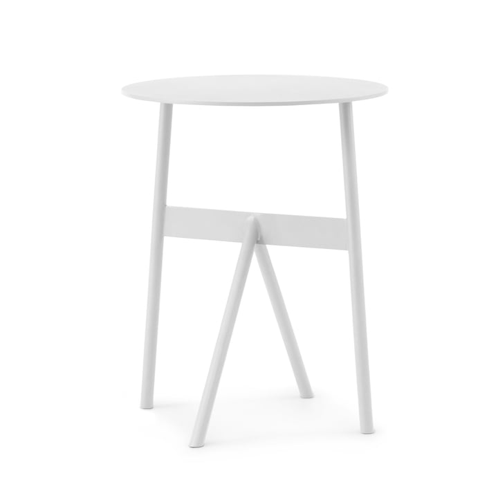 Normann Copenhagen - Stock Tisch, Ø 37 x H 46 cm, weiß