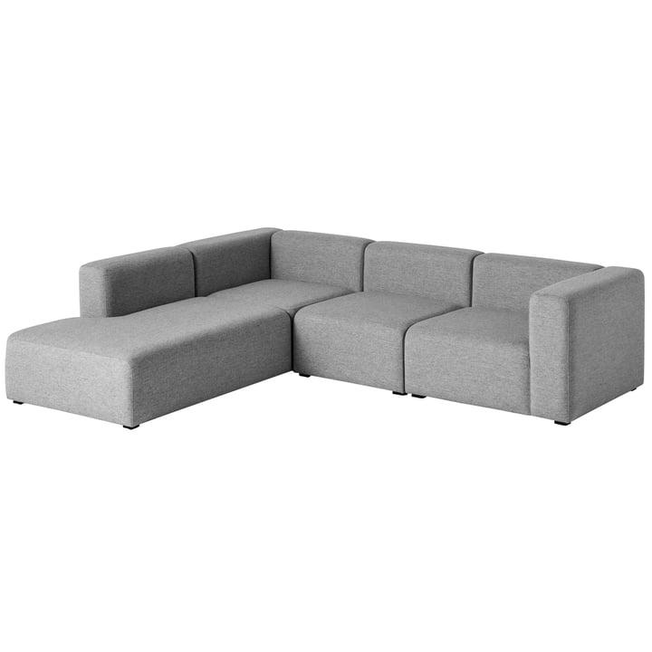 Hay - Mags Sofa, Eck-Kombination 2, links / grau (Hallingdal 116)