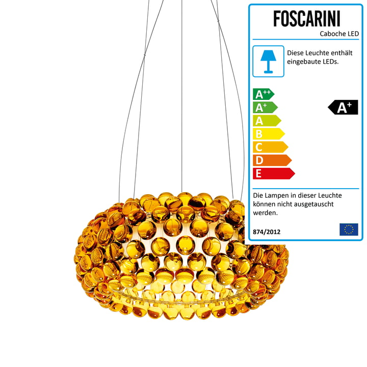 Die Foscarini - Caboche MyLight LED-Pendelleuchte goldgelb, media (dimmbar)