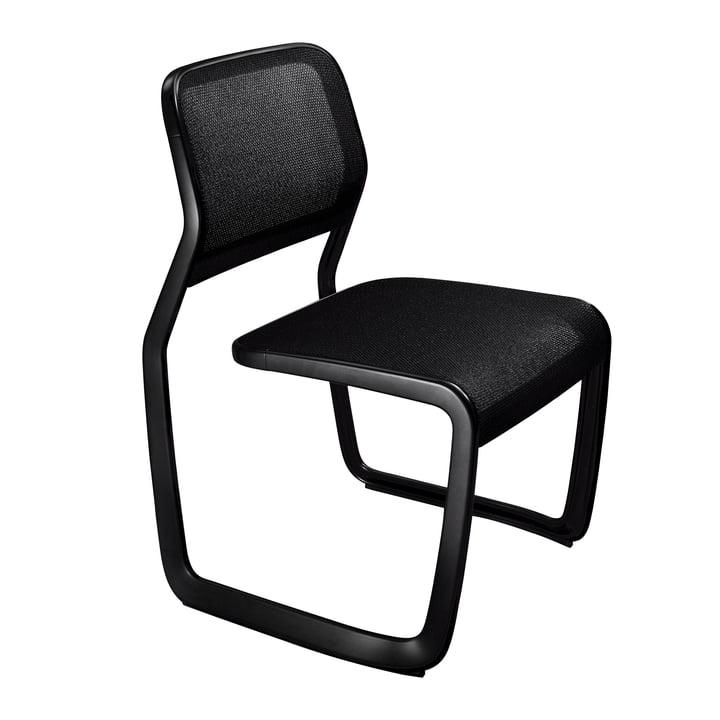 Knoll - Aluminium Chair, Aluminium schwarz / Netzgewebe schwarz