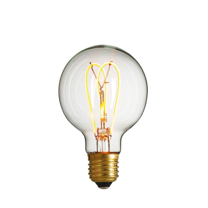 NUD Collection - LED-Leuchtmittel W-Globe, Ø 80 mm, E27 / 4 W, klar