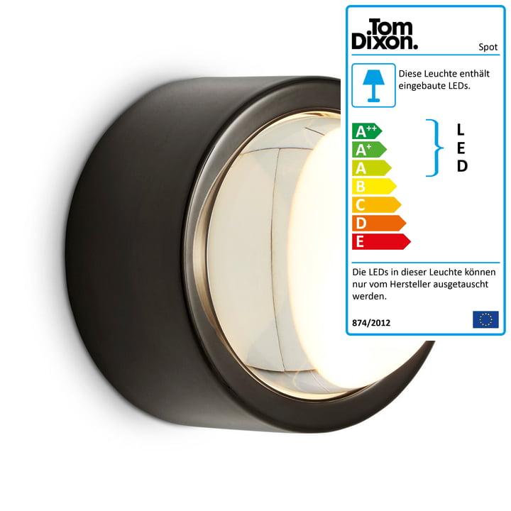 Tom Dixon - Spot LED-Wandleuchte, schwarz