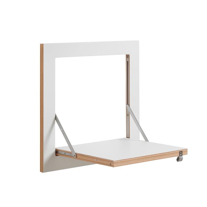 Ambivalenz - Fläpps Regal, 40 x 40 cm, 1 Regalboden, weiß