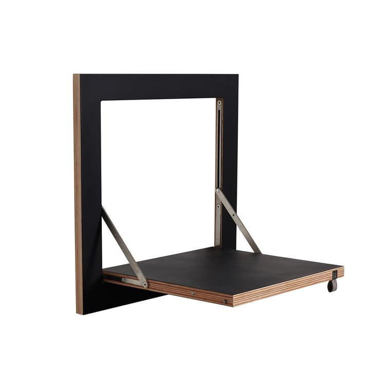 Ambivalenz - Fläpps Regal, 40 x 40 cm, 1 Regalboden, schwarz