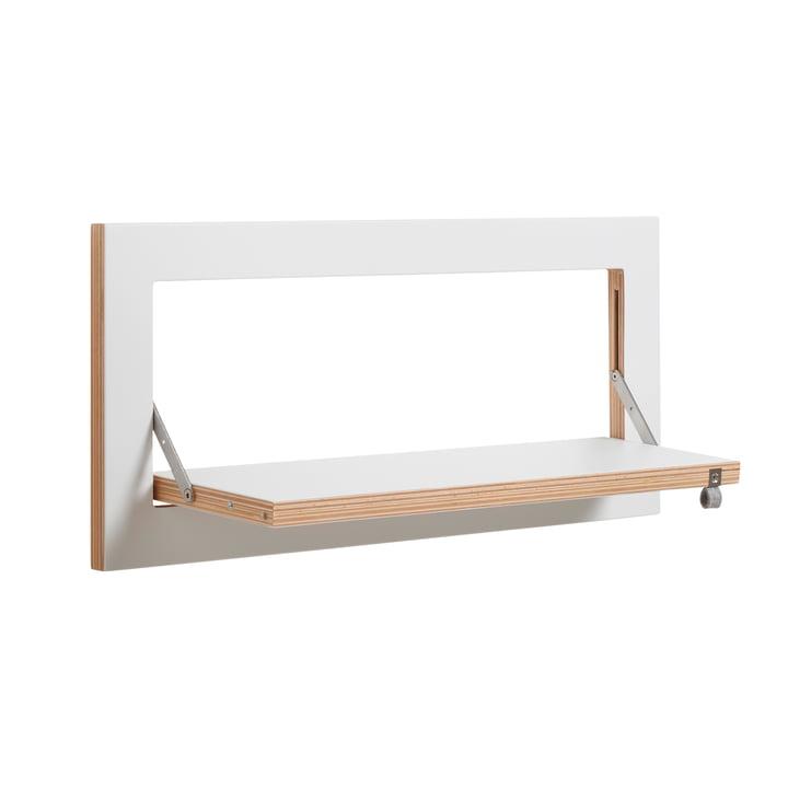 Ambivalenz - Fläpps Regal, 60 x 27 cm, 1 Regalboden, weiß