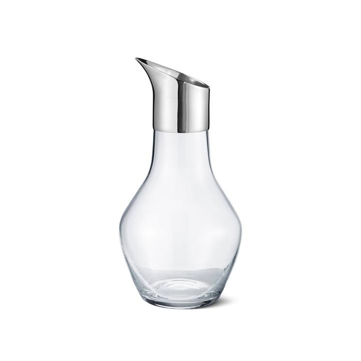 Georg Jensen - Sky Wasserkrug, Glas / Edelstahl