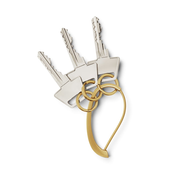 Shades Schlüsselanhänger, gold von Georg Jensen