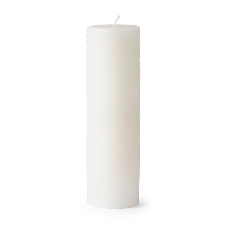 Tivoli - Block Kerze Column, H 23 x Ø 7 cm, weiß