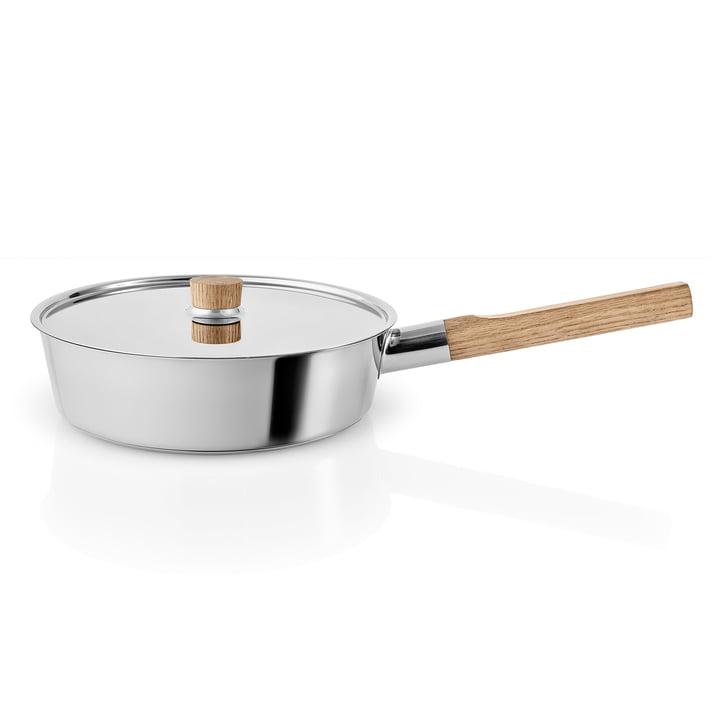 Nordic Kitchen Sautierpfanne mit Deckel Ø 24 cm von Eva Solo in Edelstahl / Eiche
