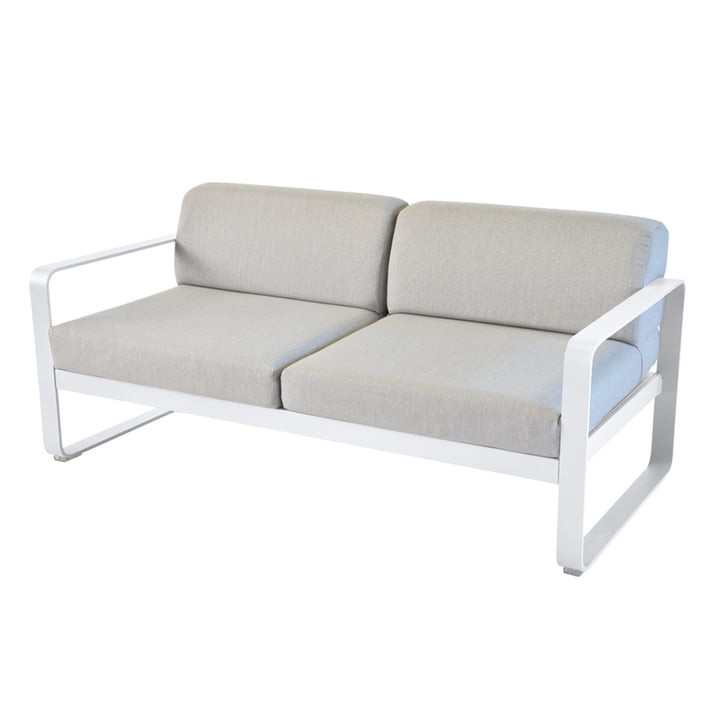Fermob - Bellevie Sofa, baumwollweiß / flanell grau
