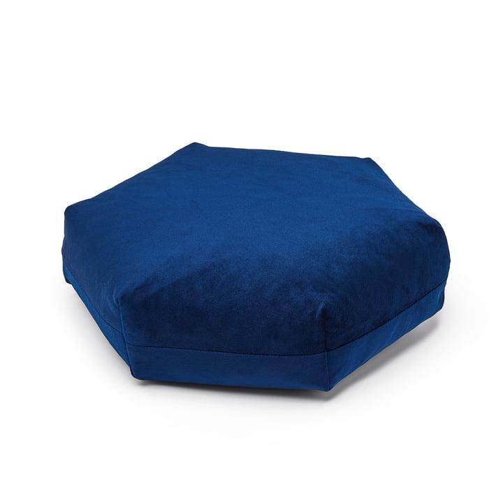 Puik - Plus Hexagon Kissen, 41 x 36 cm, dunkelblau