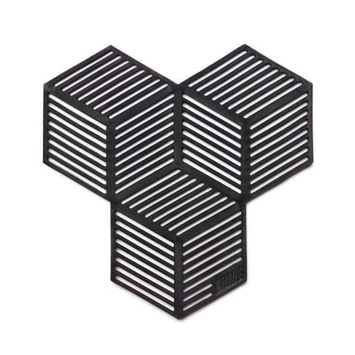 Sico Untersetzer (4er-Set), schwarz von Puik