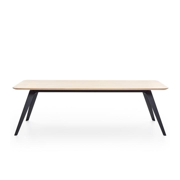 Fold Esstisch 200 × 95 cm, Eiche / schwarz von Puik