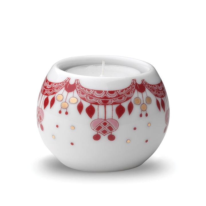 Guirlande Teelichthalter Ø 6,5 cm in rot / weiß von Bjørn Wiinblad